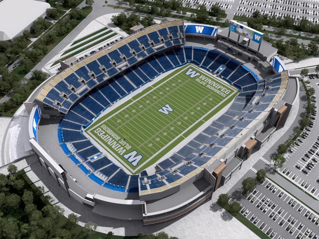 Stadium Interactive Map Winnipeg Blue Bombers